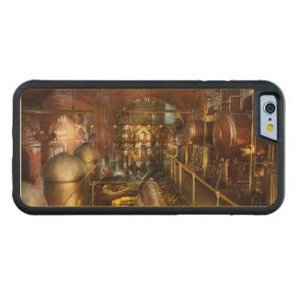 Steampunk - pense - tanques capa de madeira de bordo bumper para iPhone 6