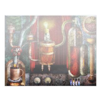 Steampunk - ruptura de café convites personalizados