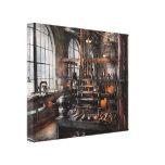 Steampunk - sala - estúdio de Steampunk Impressão De Canvas Envolvida
