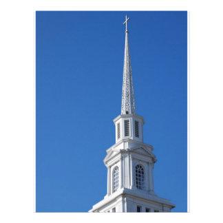Steeple branco da igreja papeis de carta personalizados