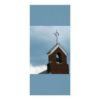 Steeple da igreja cristã 10.16 x 22.86cm panfleto