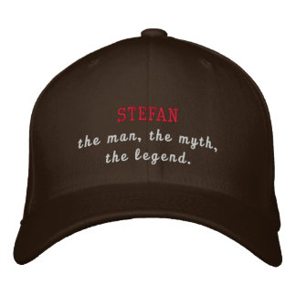 Stefan a legenda boné bordado