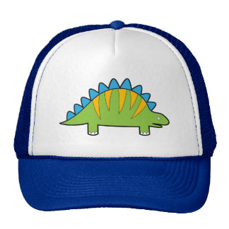 Stegosaurus colorido Dino dos desenhos animados Bonés