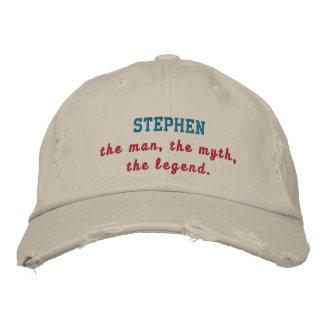 Stephen a legenda boné bordado