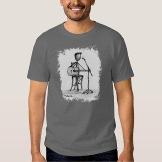Stickman - homens T da guitarra Camiseta