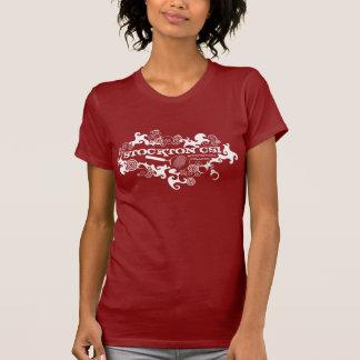 Stockton CSI Bulleye para as meninas vermelhas Tshirt
