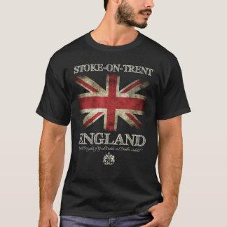 Stoke--Trent Na bandeira de Inglaterra Reino Unido Camiseta