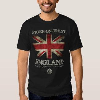 Stoke--Trent Na bandeira de Inglaterra Reino Unido Tshirt
