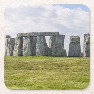 Stonehenge Inglaterra Porta-copo Quadrado