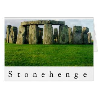 Stonehenge no alvorecer II Cartão Comemorativo