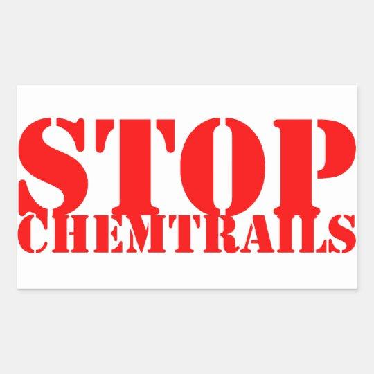 Stop Chemtrails - Adesivo Retangular