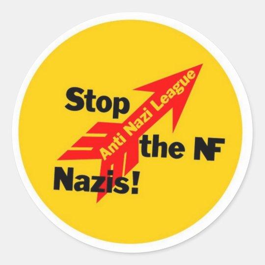 Stop the National Front Nazis! Adesivo Redondo