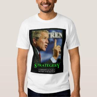 strategery do arbusto camiseta