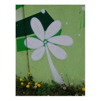 Streetart cartão postal grafitti de floral