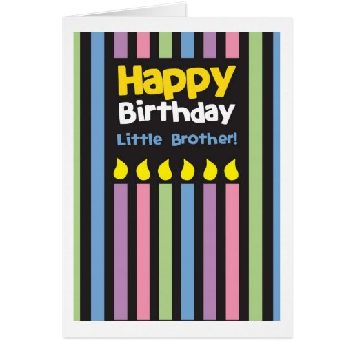 Stripey do irmão mais novo do feliz aniversario cartao