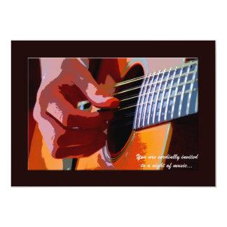 Strumming o convite da guitarra