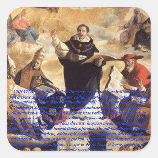 Studium da aposta de Oratio S. Thomae Aquinatis Adesivo Quadrado