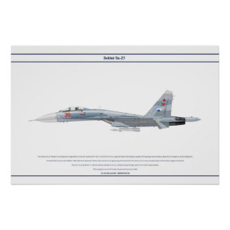 Su-27 Rússia 2 Pôster