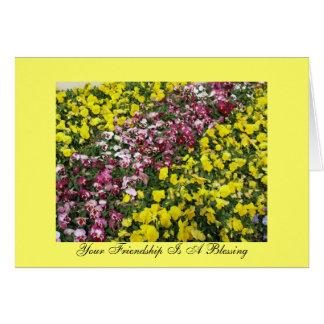 Sua amizade é uma bênção cartão comemorativo