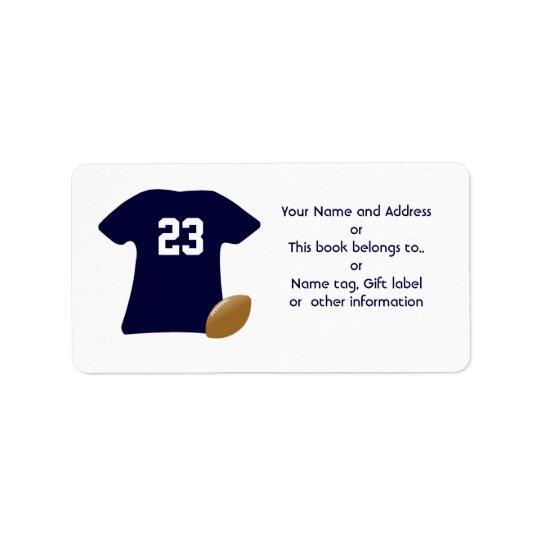 Sua camisa do futebol com etiquetas do futebol