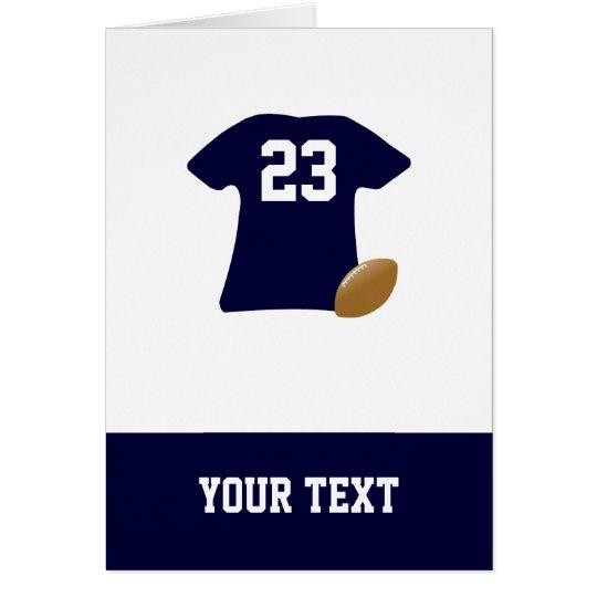 Sua camisa do futebol com o cartão de aniversário
