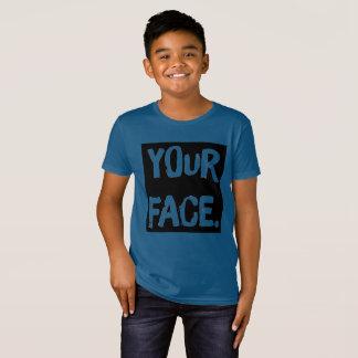 """""""Sua cara."""" T engraçado de A.A. Orgânico Algodão Camiseta"""
