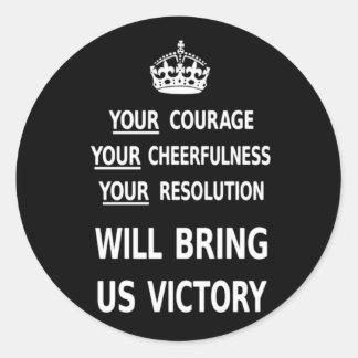 Sua coragem trar-nos-á a vitória o baixo preço adesivo