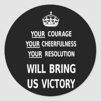 Sua coragem trar-nos-á a vitória o baixo preço adesivos redondos