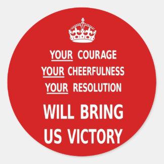Sua coragem trar-nos-á a vitória. O melhor preço Adesivos Em Formato Redondos