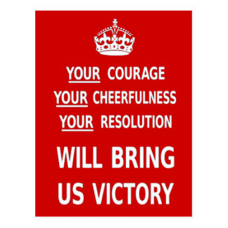 Sua coragem trar-nos-á a vitória. O melhor preço Cartão Postal