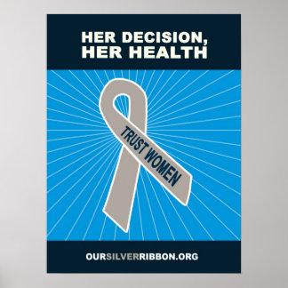 Sua decisão, sua saúde pôster