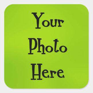 sua foto aqui adesivo quadrado