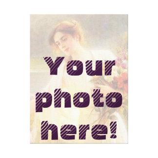 Sua foto aqui!  Projete Impressão De Canvas Envolvida
