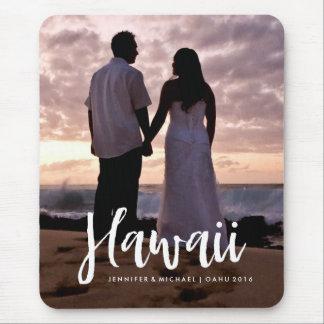 Sua foto das férias de Havaí com tipografia à moda Mousepad