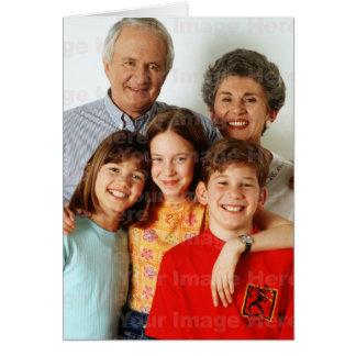 Sua foto em um cartão de cartões de natal vertical