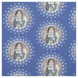 SUA FOTO em um tecido do costume do quadro do