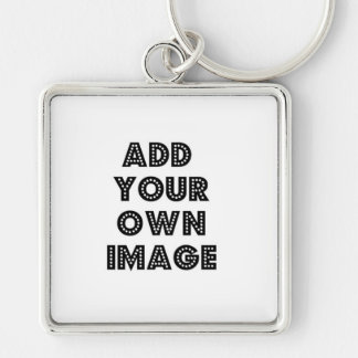 Sua imagem aqui anula chaveiro quadrado na cor prata
