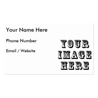 Sua imagem sobre cartão de visita