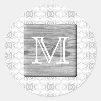 Sua letra. Imagem da madeira e do teste padrão Adesivo