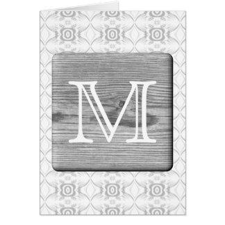 Sua letra. Imagem da madeira e do teste padrão cin Cartão