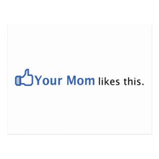 Sua mamã gosta desta cartão postal