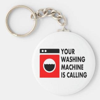Sua máquina de lavar está chamando chaveiro