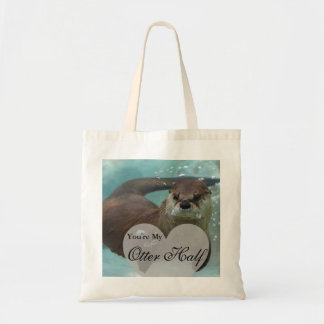 Sua minha natação da lontra de rio de Brown da Bolsa Tote