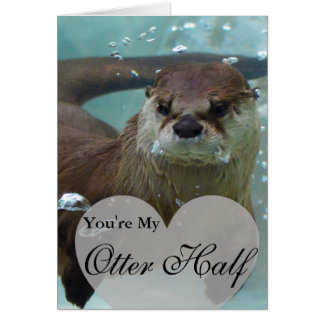 Sua minha natação da lontra de rio de Brown da Cartão Comemorativo