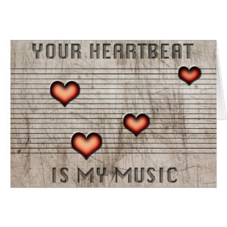 Sua pulsação do coração é meus cartões romatic da