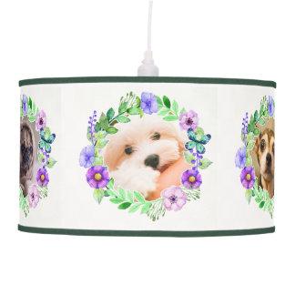 SUAS 5 FOTOS/cães bonitos na flor moldam a lâmpada