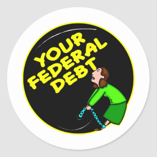 Suas bola e corrente federais do débito adesivo