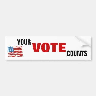 Suas contagens do voto adesivo para carro