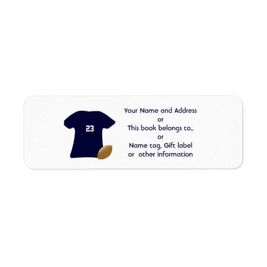 Suas etiquetas de endereço do remetente da camisa