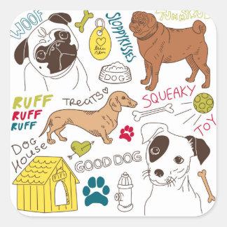 Suas etiquetas de um mundo dos cães